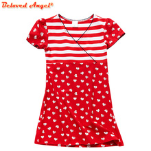 New Brand Children Cotton Summer Girls Dresses Party Kids Girl Clothes Wedding Dresses Baby Birthday Dress Casual School Wear недорого