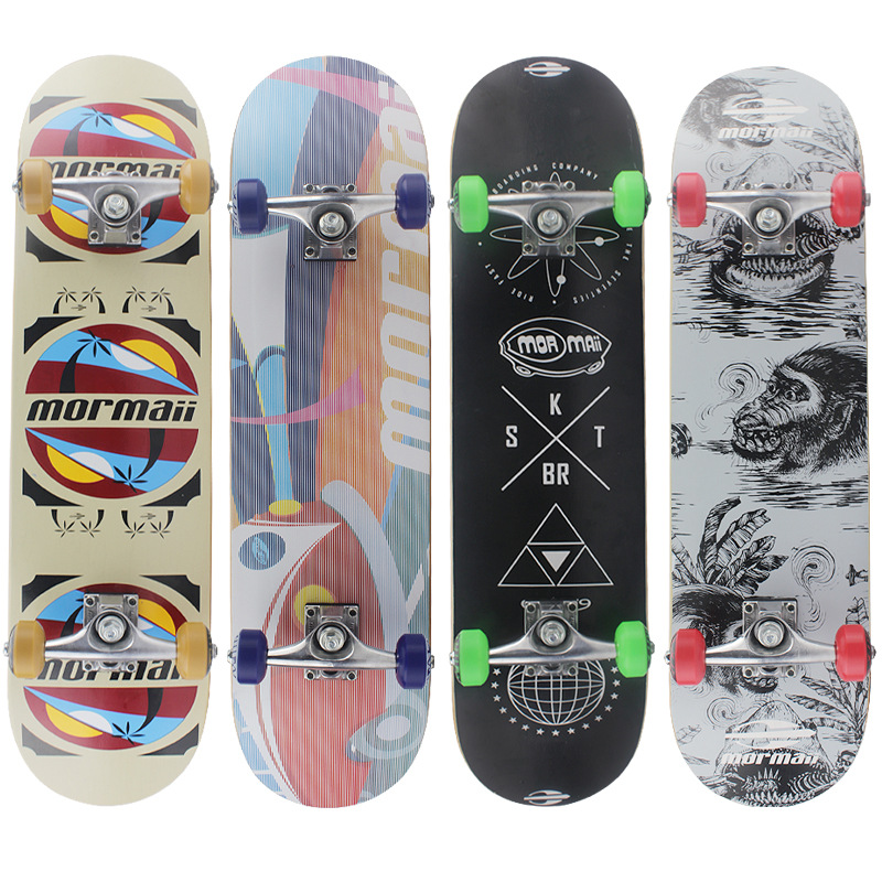 SOURCE Skateboard Double Snubby Four Wheel Maple Profession Skateboard Children Adult Novice  ride Instead Of Walk Scooter Manuf