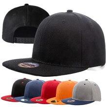 1pcs Unisex Cap Acrylic Plain Snapback Hat High Quality Adult Hip Hop Baseball Men Women Outdoor Leisure Flat