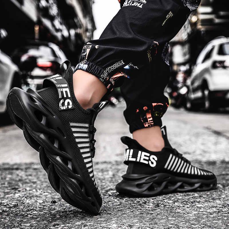 Rommedal 남자 경량 블레이드 러닝 신발 shockproof 부족 통풍 남성 스니커즈 높이 걷기 체육관 신발 남자 증가