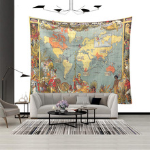World Map Series Wall Hanging Tapestry 3D Printed Art Polyester Cloth Tapestries Beach Throw Towel Yoga Mat Shawl Blanket