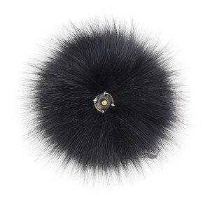 Image 4 - Помпоны из лисьего меха Furling, 12 шт., помпоны из лисьего меха 12 см/4,7 дюйма с кнопками нажатия, для шапок, вязаных шапок, аксессуаров, оптовая продажа