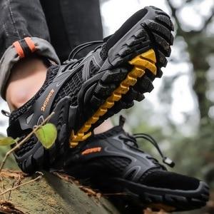 Image 2 - Men Mesh Aqua Shoes Outdoor Professional Non slip Durable Trekking Upstream Shoes Man Cool Hiking Wading Water Sports Sneakers