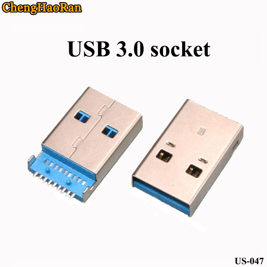 ChengHaoRan 1pcs USB Male 3.0 Socket USB Plug Soldering Board USB Interface U Disk Interface Data Cable A Public Sinking Patch