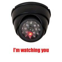 1PC fałszywe atrapa aparatu wodoodporna odkryty kryty kamery monitoringu bezpieczeństwa CCTV kamera z miga czerwona dioda LED