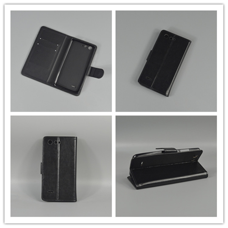 Crazy horse Flip leather case Credit Card Slots and stand function For ZTE Blade A511 A515 A 511 A 515 image