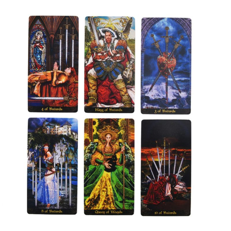 Tarot Illuminati Kit 78 Cards Deck Divination Fate Family Party Board Game Toy