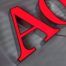 Czerwone przednie diody led litery kanałowe ściana z alfabetem zamontowanym PMMA tanie tanio shsuosai CN (pochodzenie) ss--123