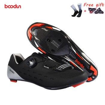 Fechadura para bicicletas de estrada, sapatos profissionais de grau de competição, fibra de carbono, ultraleve, 440g, antiderrapante, respirável, para bicicletas 1