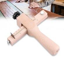 Регулируемый кожаный ремешок резак кожевенное ремесло полоса ремень DIY ручная резка деревянная лента резак с 5 острыми лезвиями кожаные инструменты
