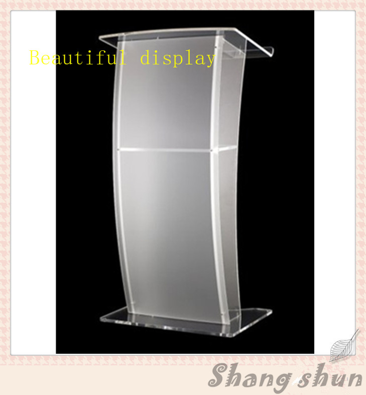 Luxury Acrylic Lectern, Perspex Podium, Plexiglass Church Pulpit Modern Acrylic Lectern Podium Pulpit