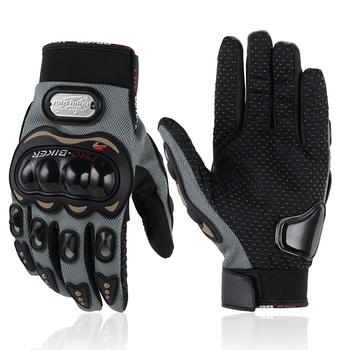 Rękawice motocyklowe Outdoor Luvas Guantes Moto Motocross oddychający pełny palec do motocyklu wyścigowego rękawica rowerowa ochronna tanie i dobre opinie PRO-BIKER CN (pochodzenie) Z pełnym palcem Poliestru i nylonu Unisex Black Full finger Wearable Breathable Procetive gear