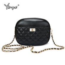YBYT new fashion diamond lattice women messenger bag high quality PU leather Female Flap Bag chain ladies shoulder crossbody