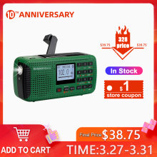 Retekess HR11S Emergency Radio Hand Crank Solar Radio FM/MW/SW Bluetooth MP3 Player Digital Recorder Portable(China)
