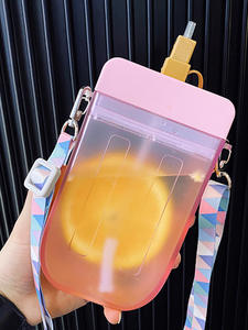 Straw-Cup Drinking-Cup Juice Popsicle Water-Bottle Plastic Transparent Bpa-Free Children
