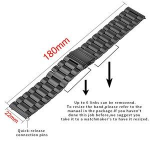 Image 5 - 20 22Mm Hout Horloge Band Voor Huawei Horloge Gt/Galaxy 42/46Mm Roestvrij Stalen Gesp Riem vervanging Armband Voor Gear S3 S2