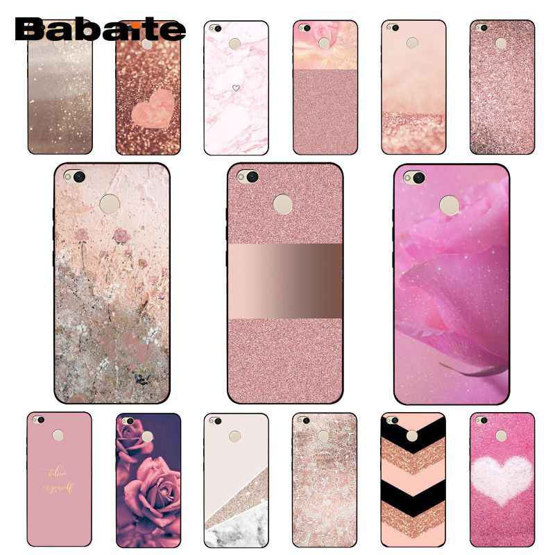 Babaite Love Heart Gold Rose Marble Stripes Phone Case for Xiaomi Note3 mi5 6 A1 A2 Lite Mi9 9SE mi8lite 8explorer