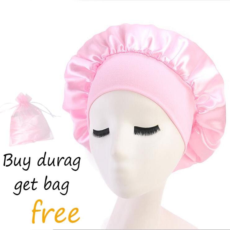 women wide band wholesale satin silk hair bonnets  10pcs a lot