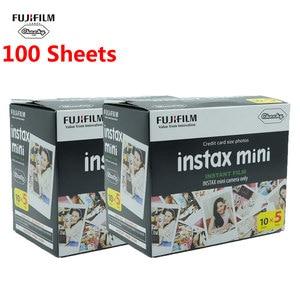 Image 1 - Bianco 100 fogli Fujifilm Instax Mini Film Fuji Instax fotocamera istantanea pellicola fotografica carta Mini 11 9 8 fotocamera Mini 7s 70 90 C