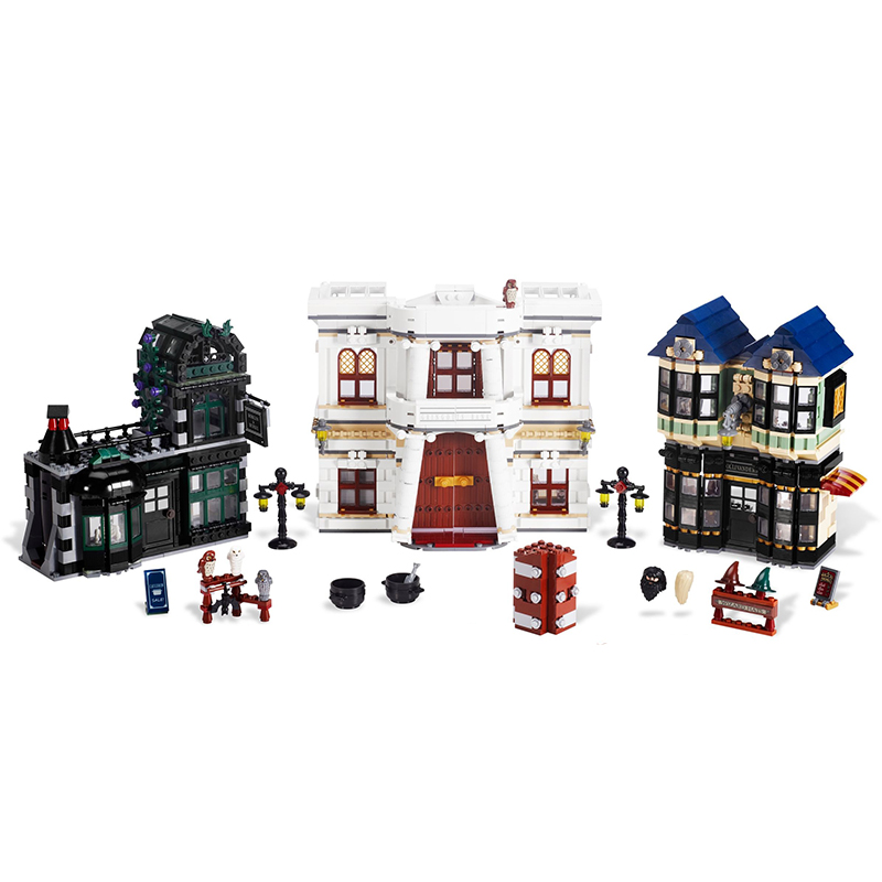 This Product Is Shipped From The US Warehouse In Stock 16012 Movie Series Diagon Alley Building Block Bricks Compatible 10217