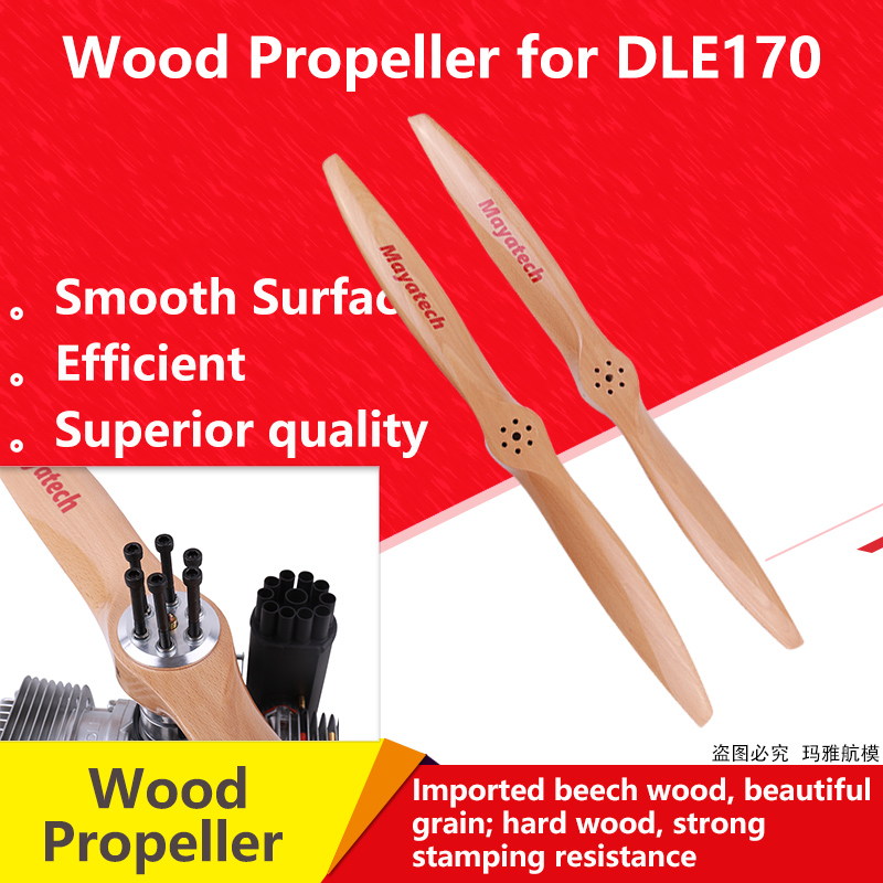 Mayatech Beech Wood Propeller for DLE170 Power Paraglider CW/CCW DLE170 DLE170M Special Wood Propeller