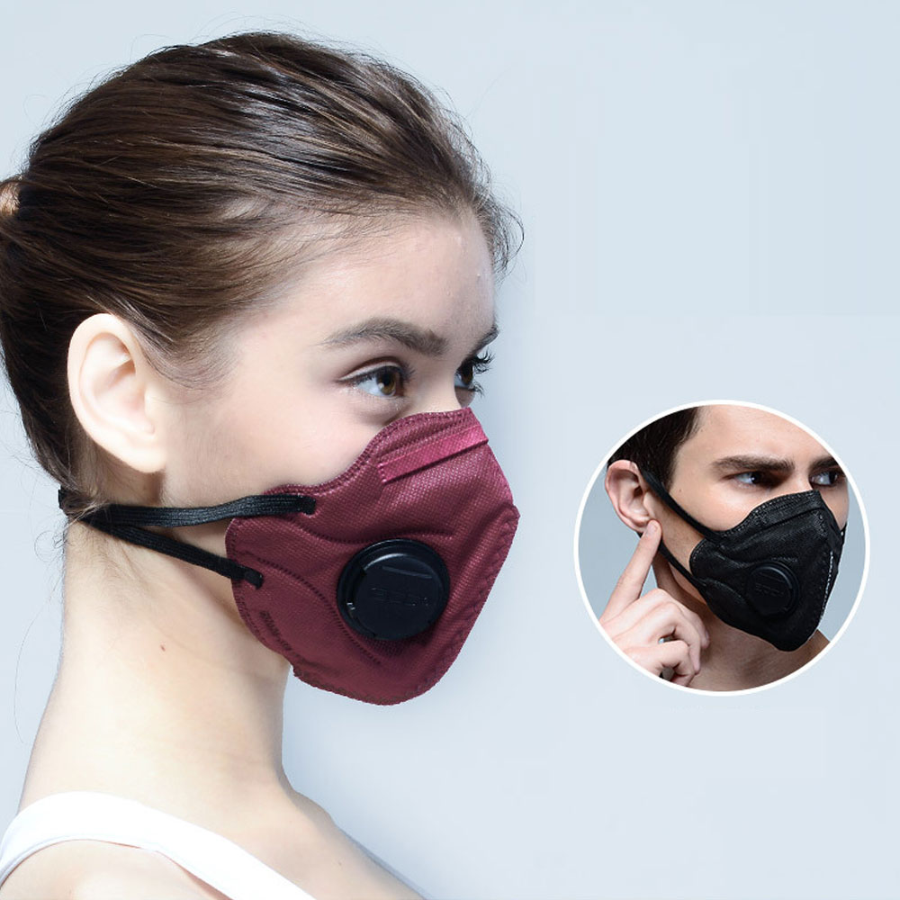 1Pcs Fashion Unisex Non-woven Fabric Breath Anti-Dust Anti Pollution Mask Activated Carbon Filter Respirator Mouth-muffle New