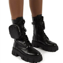 Martin Boots American Winter Cake-Heel Thick-Soled Wild Foot-Bag Sponge And Retro Autumn