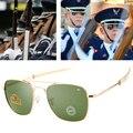 Солнцезащитные очки-авиаторы UV400 Мужские, модные брендовые дизайнерские солнечные очки в стиле милитари, американской армии