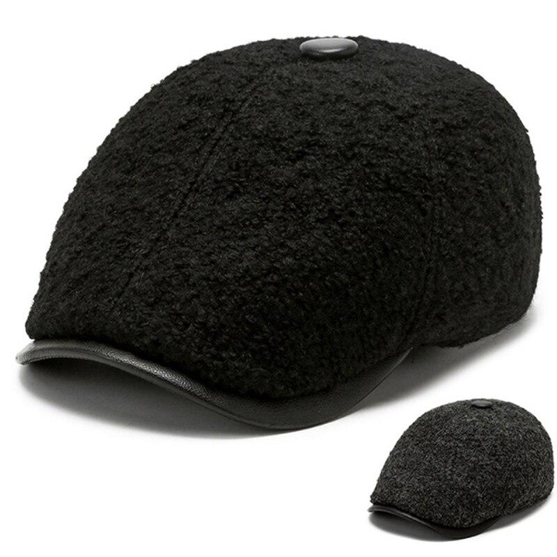 Octagonal Thermal Fleece Hat Men Women Big Size Beret Outdoor Painter Autumn Winter 2021 New Warm Hats Hot Sale