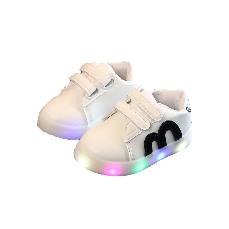 1-3y Children Shoes Girls Boys Lightening Sport Shoes Anti-slip Soft Bottom Kids Baby Casual Flat Sneakers Autumn