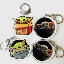 Jedi Master Yoda Keychain Star Wars The Rise of Skywalker Acrylic Keychains For Men Women Key Chain Car Key Ring Jewelry Gifts