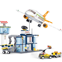 City Technic Cargo Plane Airport Airbus Airplane Building Blocks Figures Legoingly Bricks Christmas Gifts Toys for Children цена