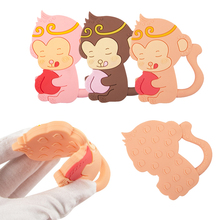 Teething Necklace Monkey Gifts Rodents Animals Tiny Bpa-Free Baby Cartoon Shower King