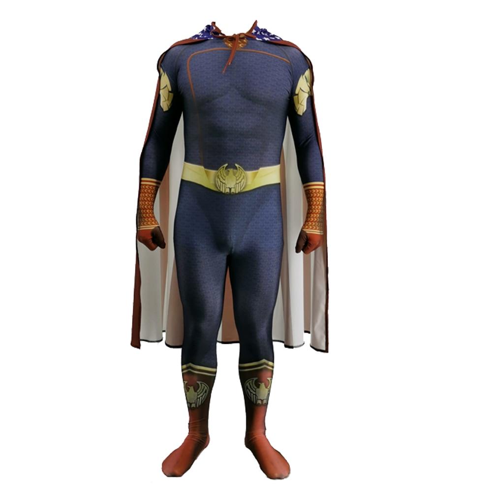 2020  Homelander The Deep Boys Cosplay Costume Halloween Costumes The Seven Homelander A-Train Super Hero Costumes Jumpsuits 2