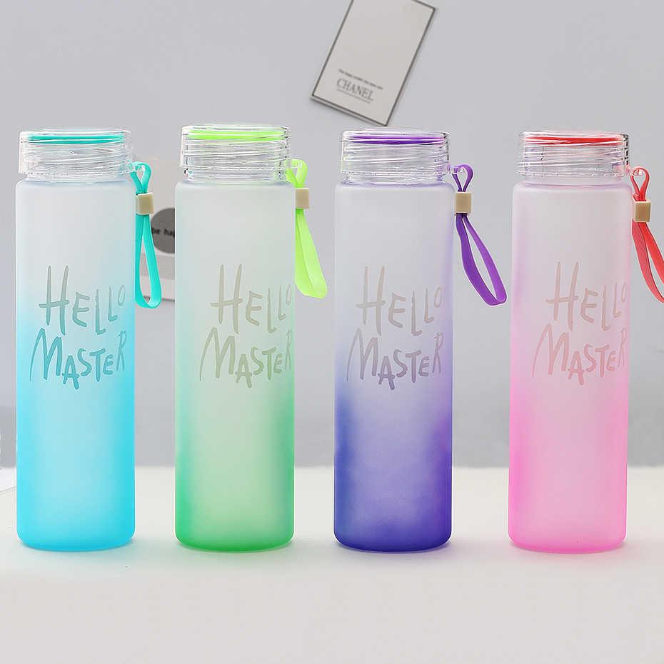 Nueva botella de plástico para deportes acuáticos 500ml cuerda portátil niños beber al aire libre sello a prueba de fugas calabaza escalada botellas de agua