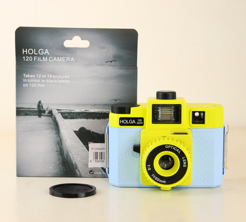 Polaroid Camera Blue | Holga 120GCFN Blue/Yellow Medium Format Film Camera Glass Lens Lomo Brand New