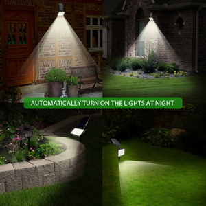 Image 5 - T SUNRISE 50 LEDs Solar Garden Lights Outdoor IP44 Waterproof Wall Lighting Lawn Lamp Powered Sunlight for Garden Decoration