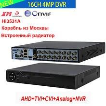 Hi3531A 16 Kanal DVR 16CH 4MP Video Recorder NVR H.264 + Hybrid 6 in 1 für TVI CVI CVBS AHD 4MP 1080P Kamera und 5MP IP Kamera