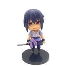 Naruto Shippuden Q Versie Action Figures Anime Beeldje Model Uchiha Sasuke Itachi Pop Pvc 4 Inch Standbeeld Collectible Speelgoed Pop