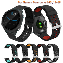 Fashion 20mm Silicone Wristband Strap For Garmin forerunner 245 Band Replacement Smart Bracelet for Garmin forerunner 245M Watch 20mm silicone watch band strap for garmin forerunner 645