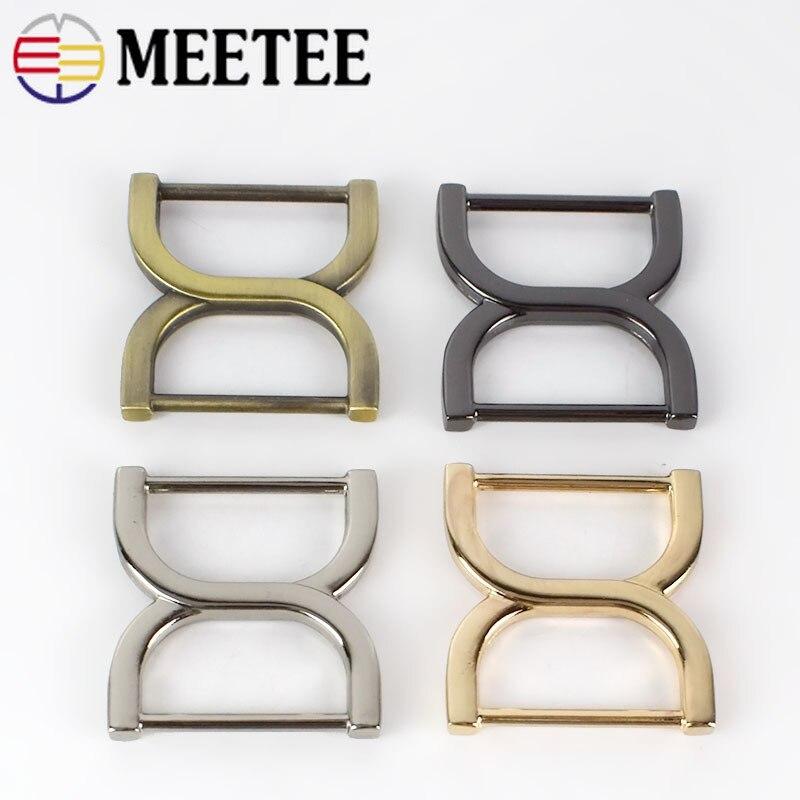 5/10/20pc Meetee 25mm cuadrado bolsa de zapatos con hebillas de cierre de hebilla para cinturón, bolso ajustador de correa ganchos accesorios de bricolaje BF188