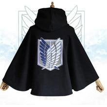 Anime japonês ataque em titan manto luvas shingeki nenhum kyojin capuz scouting legion traje cosplay verde cabo