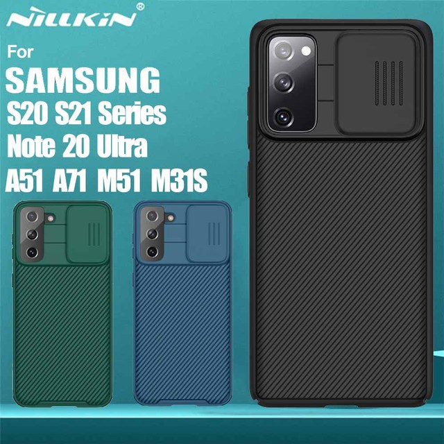 NILLKIN Slide Camera Lens Protection Cases For Samsung S20 FE S21 Ultra Plus Note 20 Ultra A51 A71 M31S M51 Slide Protect Cover