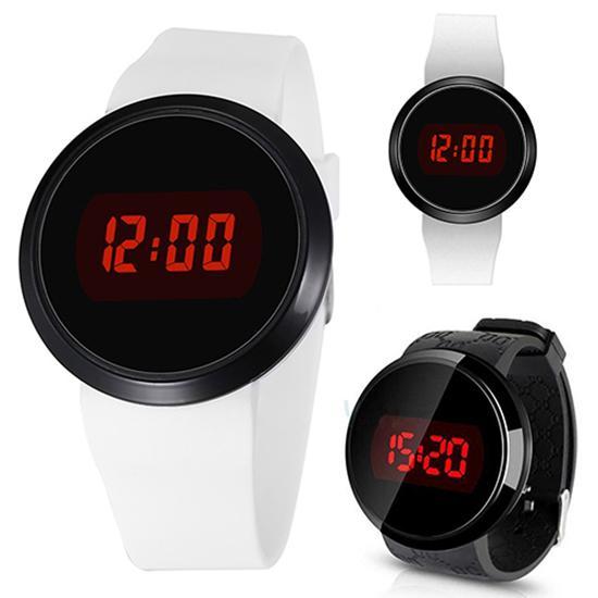 Fashion Men Waterproof Electronic LED Round Touch Screen Clock Day Date Silicone Wrist Watch Digital Watch Sport Watch New
