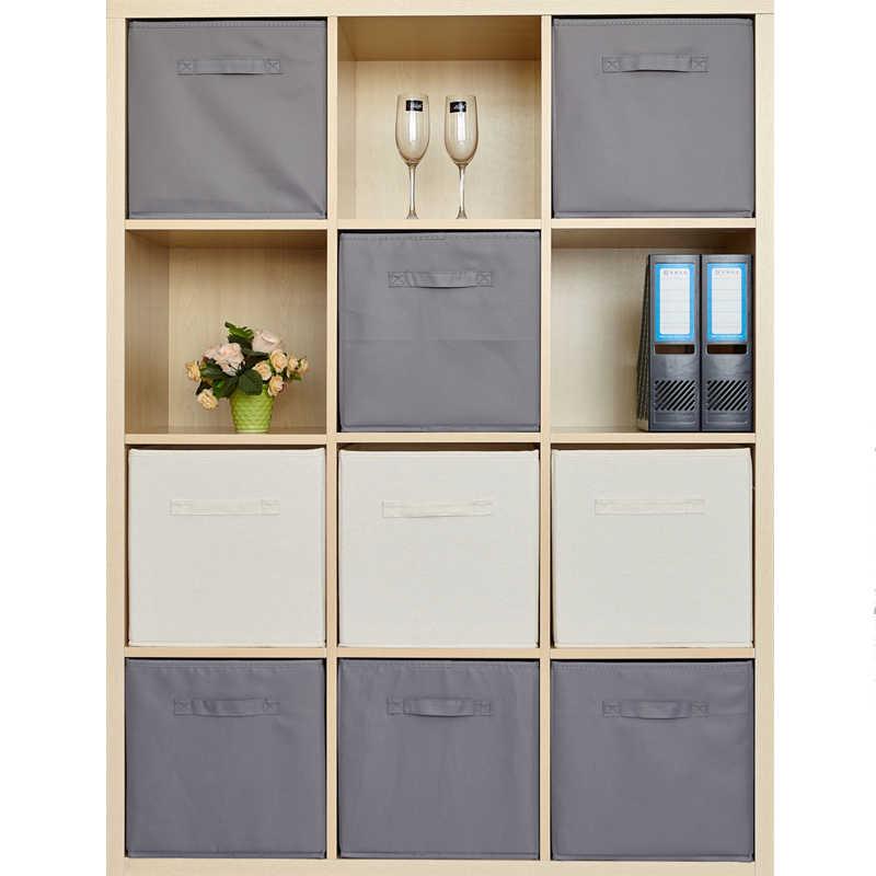 New Folding Non Woven Fabric Storage Box Cube Storage Basket Bin