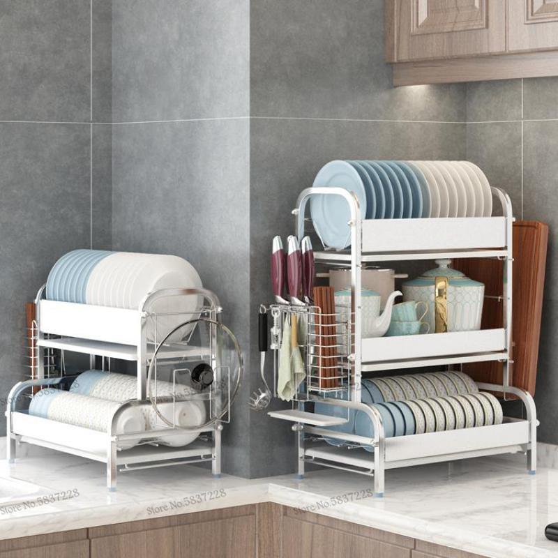 Вешалка для шкафа, сушилка для сушки, проветривание и положение блюд, тарелок и блюд, ящик для хранения, кухонная артифа из нержавеющей стали...