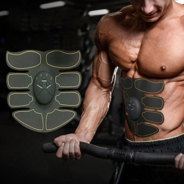 Electric Muscle Training Slimming Fat Burning Exercise Gym Smart Fitness Muscle Stimulator Abdominal Tool Muscle Stimulator