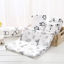 Мягкое муслиновое детское одеяло из хлопка, милое мультяшное одеяло для новорожденных, детское газовое одеяло для ванной, накидка для сна, чехол для коляски, игровой коврик