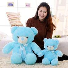 Plush-Toy Teddy Light-Up Glowing Bear-Stuffed Luminous LED for Kid 50cm Animal Children's-Day-Gift