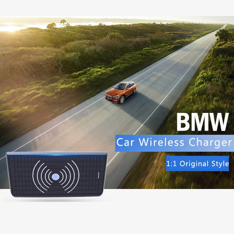 15 واط سيارة شاحن لاسلكي لسيارات BMW F30 F31 F32 3GT F34 F36 الهاتف شحن سريع 2016 2017 2018 2019 آيفون 8 X XS سامسونج s9